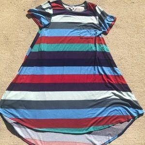 LuLaRoe multicolored Striped Carly